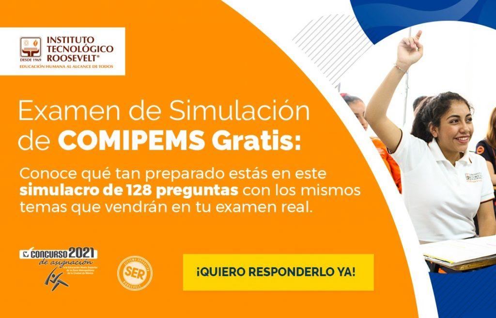 banner examen de simulacion comipems 2021